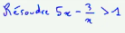 1ère S Résoudre inéquation trinôme second degré après même dénominateur