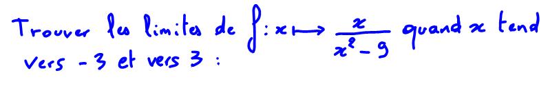 1ère S Limite d'une fraction rationnelle, signe du polynôme