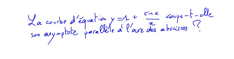 1ère S Intersections avec asymptote, fonction sinus
