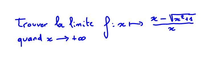 1ère S Limite à l'infini, racine carrée et expression conjuguée