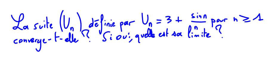1ère S Limite de suite, théorème des gendarmes, fonction sinus