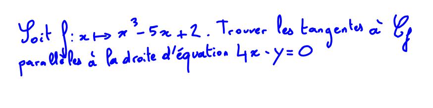 1ère S Tangentes parallèles à une droite, polynôme troisième degré