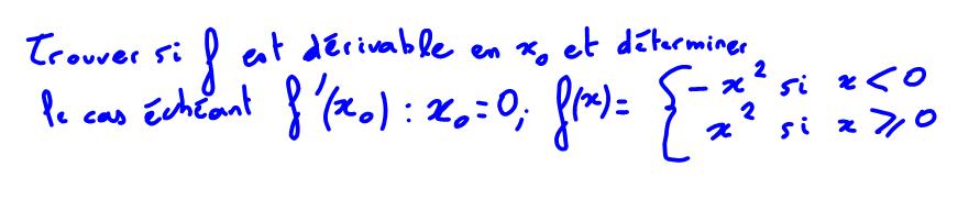 1ère Terminale S Définition dérivabilité, limite