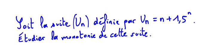 Vidéo Maths 1ère S Monotonie d'une suite, calcul sur les puissances