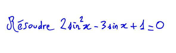 1ère S Vidéo équation trigo second degré