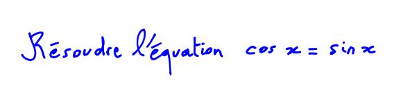 1ère S Vidéo équation trigo