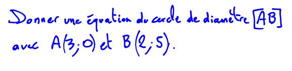 équation cartésienne d'une sphère