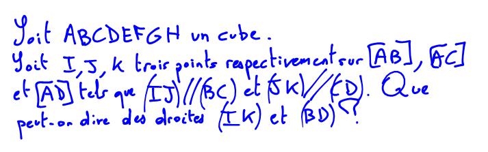droites parallèles, réciproque du théorème de Thalès