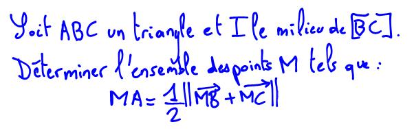 Ensemble de points, norme d'une somme de vecteurs