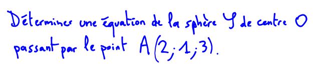 équation de sphère 1ère S