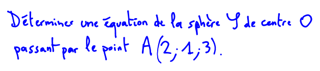 quation de sphre 1re S