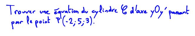 équation cylindre