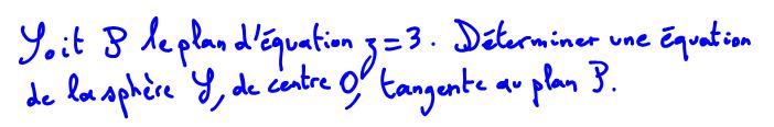 équation de sphère, plan tangent