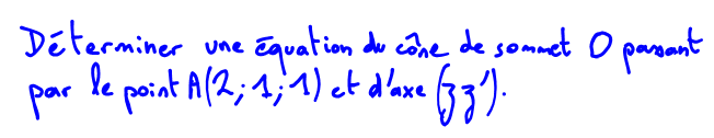 quation de cne de rvolution