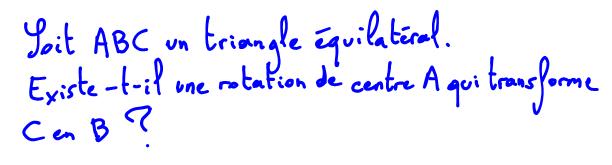 Rotation, triangle équilatéral