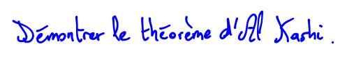 Théorème d'Al Kashi