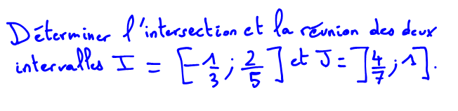 Les intervalles Maths