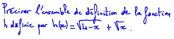 Domaine de définition