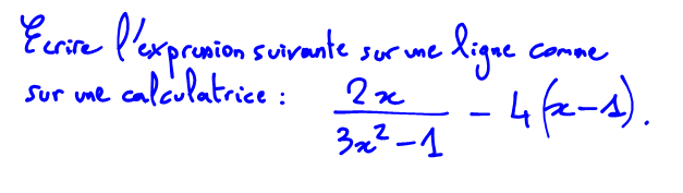 expression algébrique