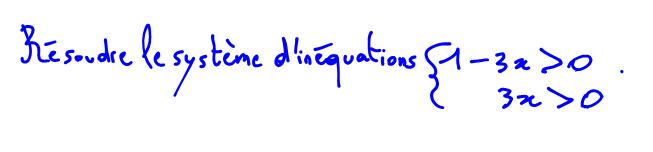 Résoudre un système d'inéquations