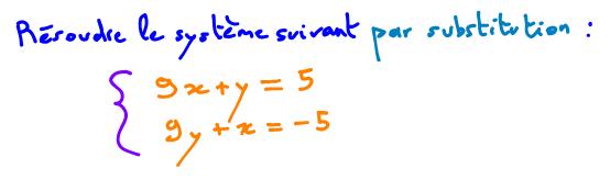 Comment résoudre un système d'équations