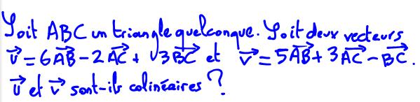 Comment montrer que deux vecteurs sont colinéaires