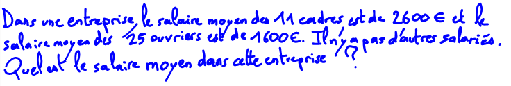 2nde Comment calculer une moyenne