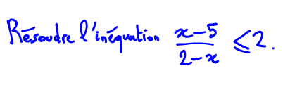 résoudre une inéquation avec une étude de signe