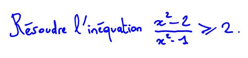 Résoudre une inéquation