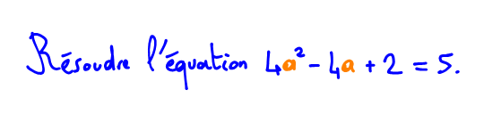Résoudre une équation du second degré par factorisation