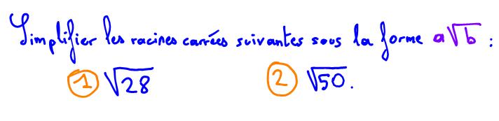 Calcul racine carrée