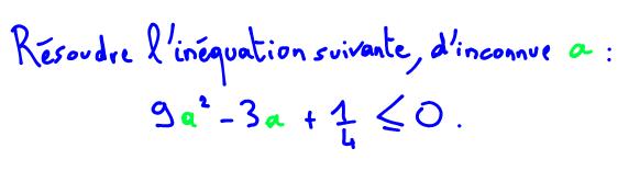 Résoudre une inéquation du second degré