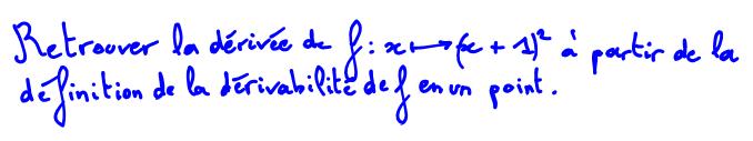 Taux de variation formule