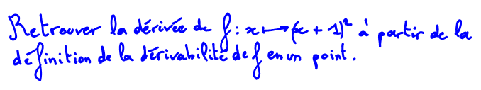 Taux de variation formule