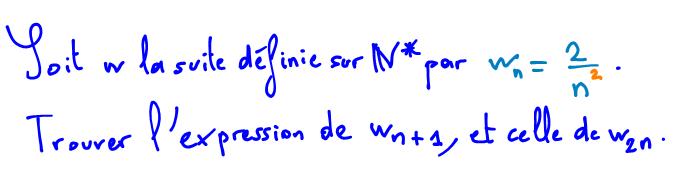 Définition explicite d'une suite en Maths
