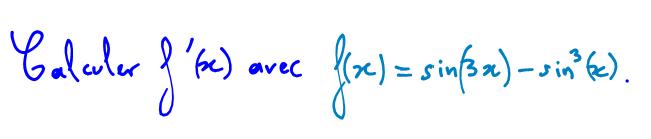 Dérivée d'une fonction trigonométrique