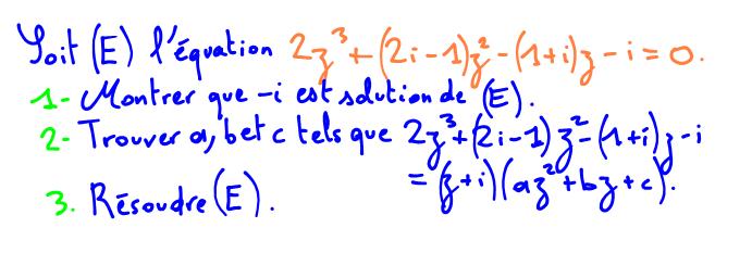 Terminale S Résoudre une équation du troisième degré