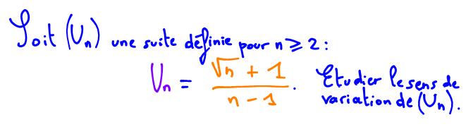 étudier le sens de variation d'une suite