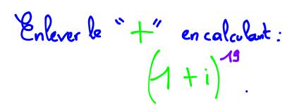Terminale S Forme exponentielle d'un nombre complexe