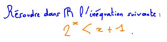 Terminale S Résoudre une inéquation avec fonction exponentielle