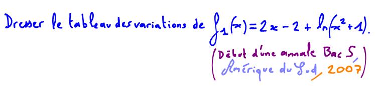 Terminale S Dresser le tableau de variation d'une fonction avec un logarithme