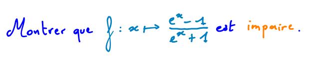 Terminale S Comment démontrer qu'une fonction est impaire