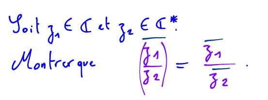 Terminale S Conjugué d'un nombre complexe