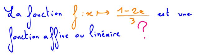 Tableau de signe d'une fonction affine
