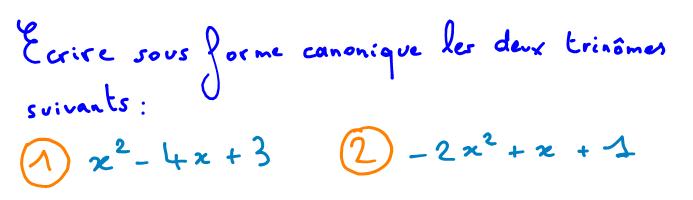 forme canonique