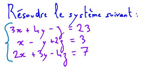 système d'équations