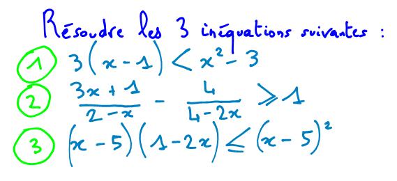 résoudre inéquation