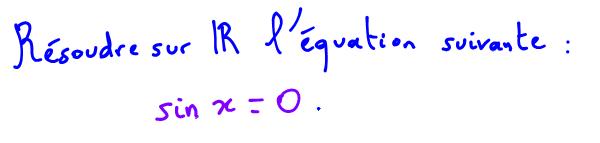équation trigonométrique