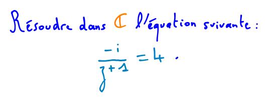 équation dans C