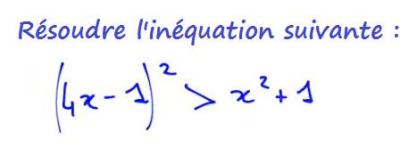 inéquation seconde